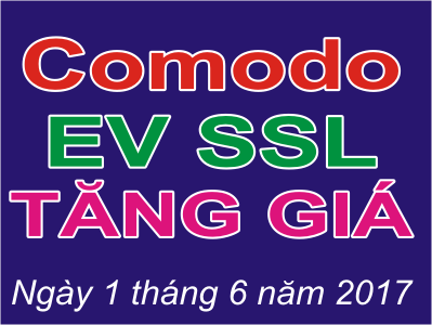 Comodo EV SSL tăng giá