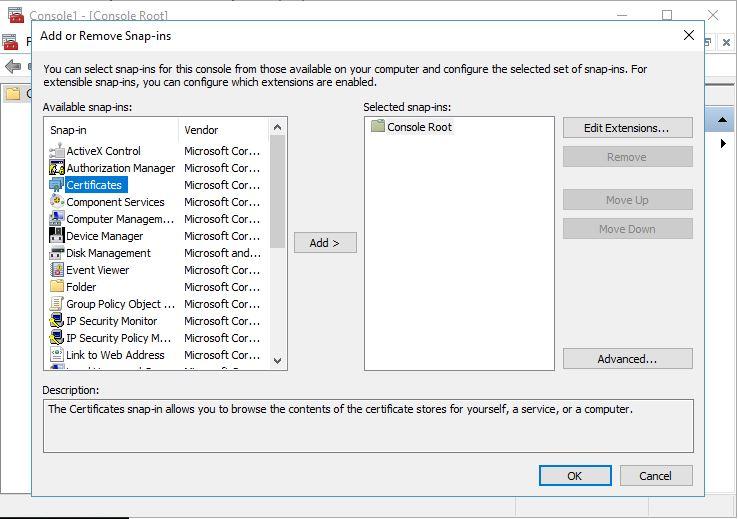 Windows: Nhập tập tin PFX thông qua MMC
